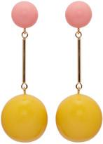 J.W.Anderson Yellow & Pink Sphere Earrings