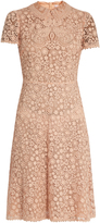 RED Valentino Floral-lace short-sleeved dress
