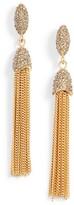 Vince Camuto Women's Chain Tassel Drop Earrings