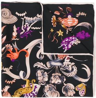 Salvatore Ferragamo Aquatic Print Scarf