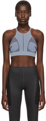 adidas by Stella McCartney Blue Prime Knit Sport Bra
