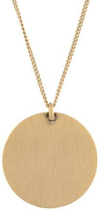 Jenny Packham Crystal Disc Pendant Necklace