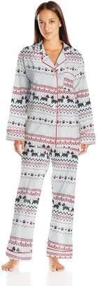 Bedhead Pajamas Women's Long Sleeve Classic Flannel Pajama Set