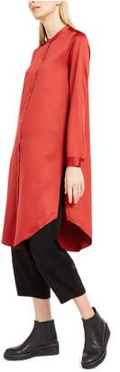 Eileen Fisher Satin Mandarin Collar Tunic