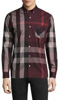 Burberry Thornaby Plaid Casual Button-Down Shirt