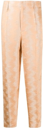 Forte Forte Cropped High-Waisted Trousers