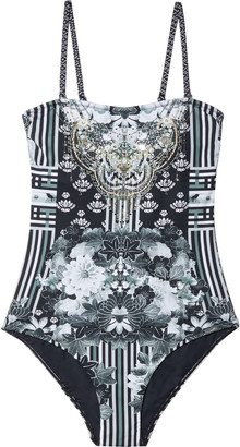 Camilla Wild Moon Child Crystal-embellished Printed Swimsuit