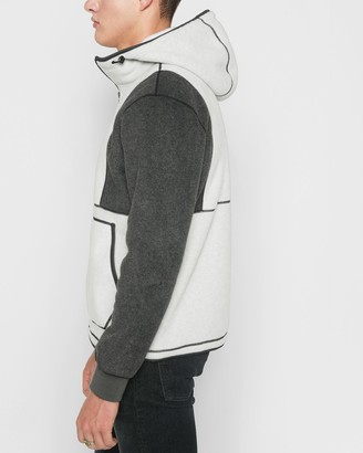 7 For All Mankind Polar Fleece Pullover in Heather Oatmeal