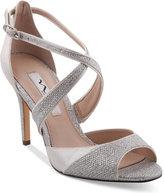 Nina Celosia Strappy Peep-Toe Evening Sandals
