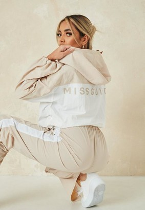 Missguided Co Ord Colourblock Shell Suit Jacket