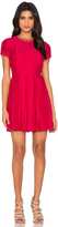 1 STATE Pleated Flare Dress