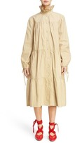 J.W.Anderson Women's Multi Tier Washed Cotton Coat