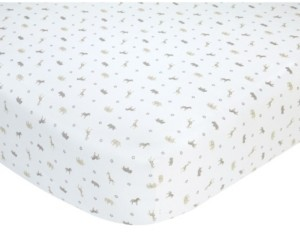 Carter's 100% Cotton Sateen Fitted Crib Sheet - Taupe Safari Bedding