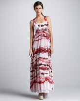 Jean Paul Gaultier Printed Racerback Maxi Dress