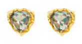 Logan Hollowell - Mama Inverted Rainbow Topaz Trillion Earrings