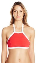 Seafolly Women's Block Party High-Neck Bikini Top