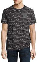 G Star G-Star Lucas Jersey Logo Scribble Stripe T-Shirt, Black