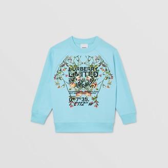 Burberry Childrens Montage Print Cotton Sweatshirt