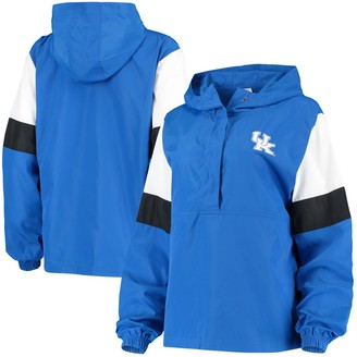 Women's Top of the World Royal/White Kentucky Wildcats Dynamite Windbreaker 1/2-Snap Jacket