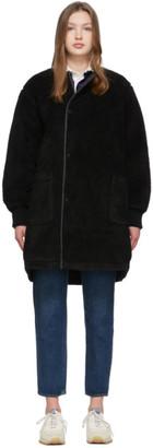 Chimala Reversible Black Fleece Coat