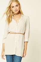 Forever 21 FOREVER 21+ Belted Shirt Dress