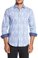 Bugatchi Men's Bugtachi Shaped Fit Print Sport Shirt