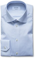 Eton of Sweden Dobby Check Contemporary Fit Dress Shirt