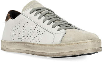 P448 John Leather & Suede Low-Top Sneakers