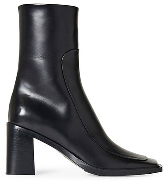 The Row Patch Square-Toe Leather Heel Boots