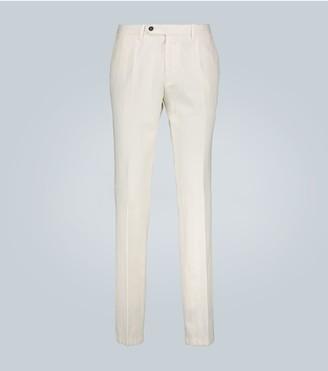 Lardini Cotton and linen-blend pants