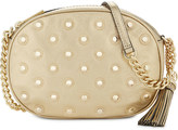 MICHAEL Michael Kors Ginny studded medium leather cross-body bag