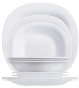 Luminarc Carine Dinnerware Set White 12pc Set