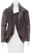 Calvin Klein Collection Shearling Lined Leather Jacket