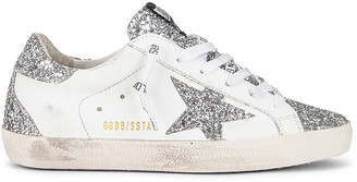Golden Goose Superstar Sneaker in White & Silver | FWRD