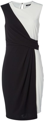 M&Co Roman Originals monochrome asymmetric dress