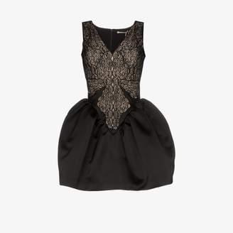 Christopher Kane Cupcake satin and lace mini dress