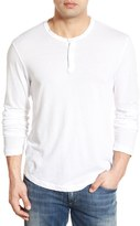 James Perse Clear Jersey Long Sleeve Henley