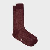 Paul Smith Men's Damson Glittered Socks