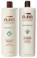 Aura Shampoo & Conditioner Rosemary Mint Rejuvenating Set, Value Pack 33.8oz