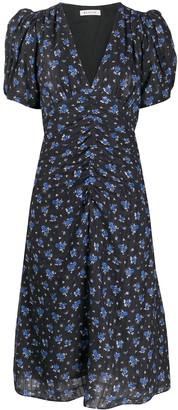 Masscob floral print ruched detail dress