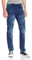 True Religion Men's Active Rocco Relaxed Skinny Moto Jean