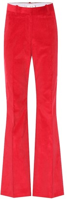 Victoria Beckham High-rise corduroy flared pants