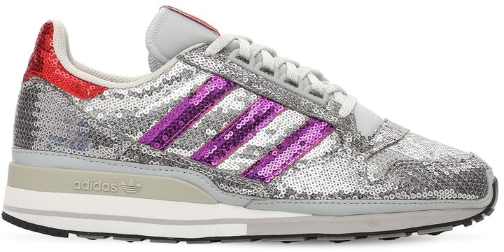 Thumbnail for your product : adidas Zx 500 Sequined Sneakers