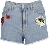 Chiara Ferragni Sequin Embroidered Denim Shorts