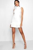boohoo Sleeveless Ruffle Hem Bodycon Dress