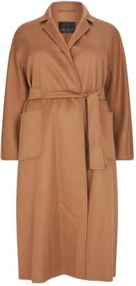 Marina Rinaldi Belted Cashmere Coat