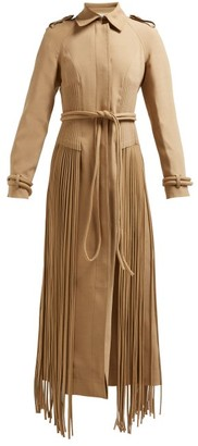 Gabriela Hearst Torres Fringed Wool-blend Coat - Camel