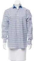 Ralph Lauren Purple Label Striped Button-Up Top