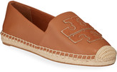 Tory Burch Ines Flat Leather Logo Espadrilles