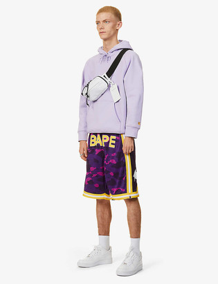 A Bathing Ape Camo basketball mesh shorts